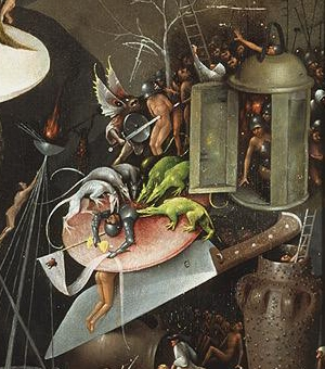 Some of the surreal images in Hieronymus Boschs's paintings are the archetypal stuff of nightmares (image from Wikipedia)