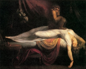 The scene depicted in Henry Fuseli's famous painting